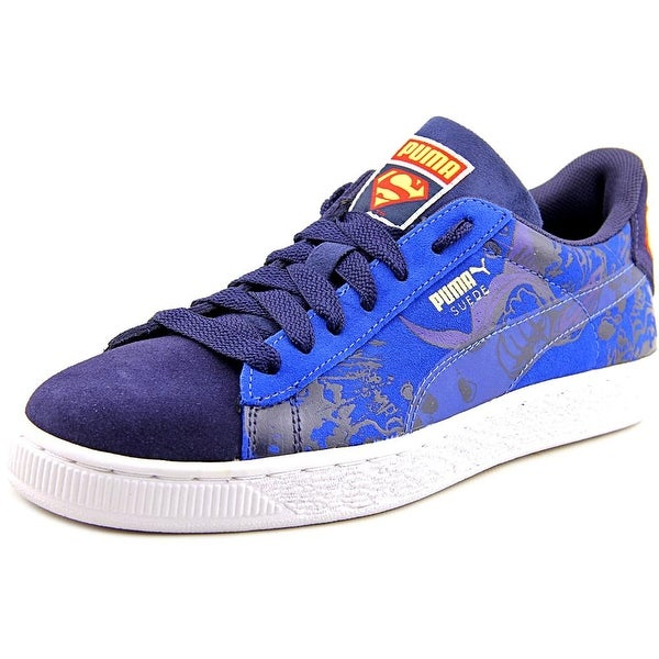 purchase cheap 11572 07b31 Shop Puma Suede Superman 2 Jr Youth Round Toe Suede Blue ...