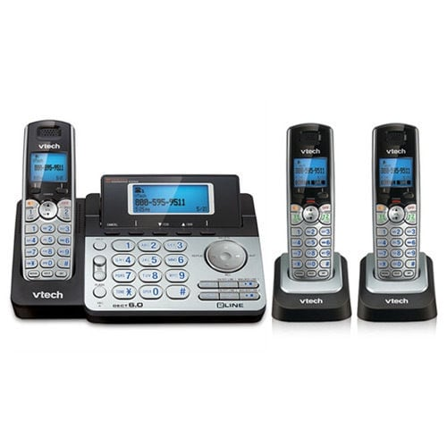 Vtech Ds6151 With (2) Ds6101 2 Line Expandable Cordless Phone