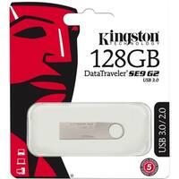 """Kingston DTSE9G2/128GB Kingston 128GB DataTraveler SE9 G2 USB 3.0 Flash Drive - 128 GBUSB 3.0 - Silver - 1 Pack"""