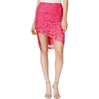 Guess Womens Pencil Skirt Lace Asymmetric - 4