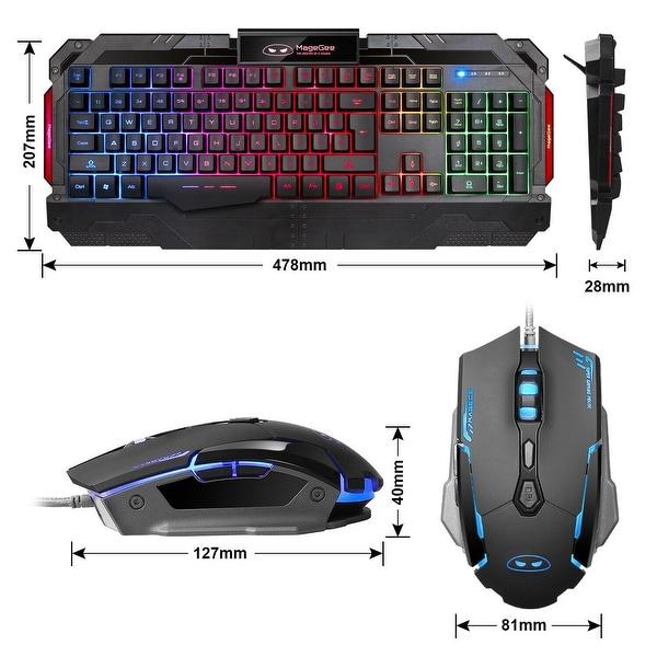 Gaming Keyboard Wired USB Gamer Keyboards Backlit Colorful Illuminated Computer