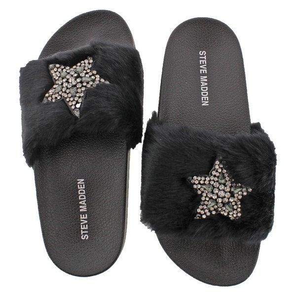 Steve Madden Shimmer Women's Faux Fur Sandal