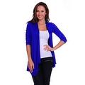 Simply Ravishing Women's Basic 3/4 Sleeve Open Cardigan (Size: Small-5X) - Thumbnail 0