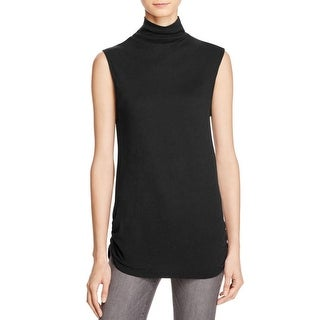 Michelle by Comune Womens Hampton Muscle Tank Sleeveless Turtleneck