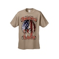 Men's T-Shirt American Liberty USA Flag Feathers Skull Native Chief Freedom Tee - Thumbnail 7