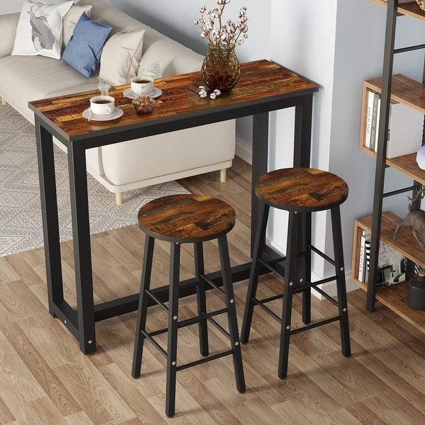 Home Garden Dining Sets 3 Piece Pub Table Set Bar Stools Kitchen Dining Furniture Counter Height Chairs Stbalia Ac Id