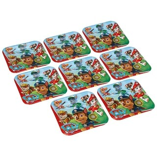 "Paw Patrol 9"" Square Paper Plates 8ct"