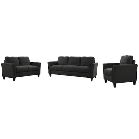Clihome Polyester-blend 3 Pieces Sofa Set - N/A