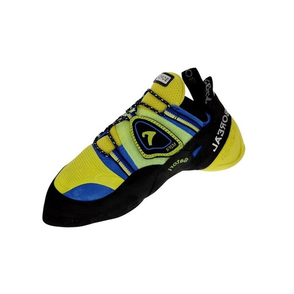 Boreal Climbing Shoes Mens Satori Leather Black Yellow Blue