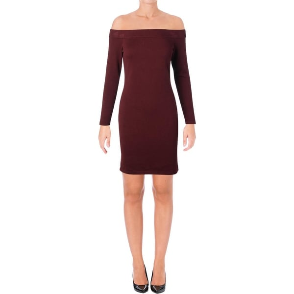 f38d55d3e1b Shop Vince Camuto Womens Sweaterdress Off-The-Shoulder Above Knee ...