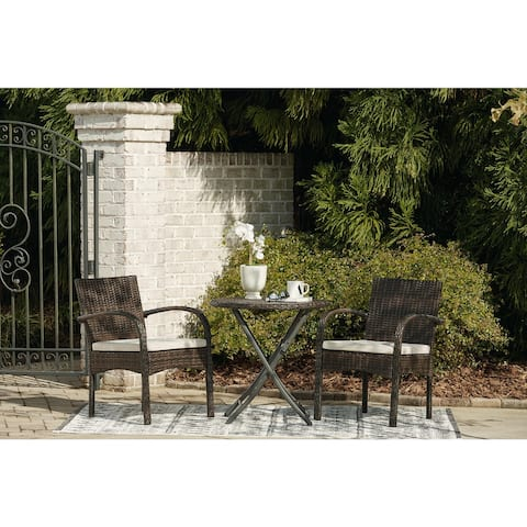 Anchor Lane Chairs with Cushion/Table Set of 3