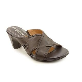 Naturalizer Alando Women Open Toe Leather Brown Sandals
