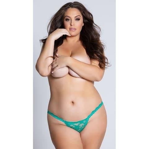 Yandy Plus Size Low Rise Lace Thong, Plus Size Lace Thong