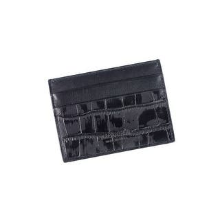 Roberto Cavalli Men's Croc-Embossed Black Leather Cardholder wallet - M|https://ak1.ostkcdn.com/images/products/is/images/direct/83f8d8eeee9c50eb51b8c32e6a918e3cfd08cecc/Roberto-Cavalli-Men%27s-Croc-Embossed-Black-Leather-Cardholder-wallet.jpg?impolicy=medium