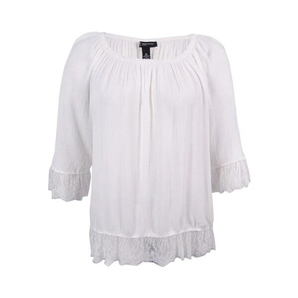 ae6082ca7ab Shop INC International Concepts Women s Plus Size Lace-Trim Peasant ...
