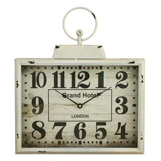 Aspire Home Accents 5832 Darcy Rectangular Wall Clock