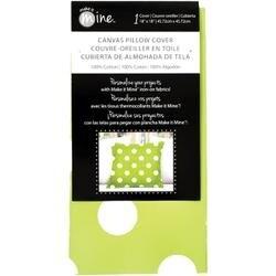 """Lime Dot - Canvas Pillow Cover 18""""X18"""" 1/Pkg"""