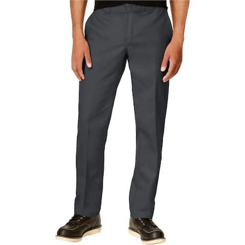 Dickies Mens Twill Casual Trouser Pants, Grey, 33W x 30L