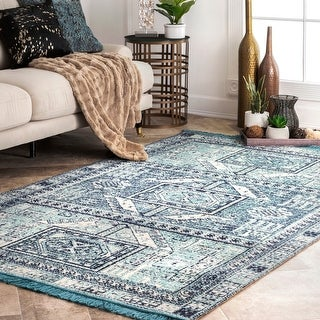 Link to nuLOOM Transitional Tribal Banded Tina Indoor/ Outdoor Area Rug Similar Items in Rugs