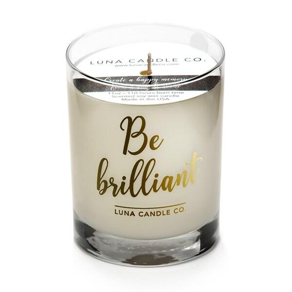 Fresh Lemon Scented Jar Candle, Premium Soy Wax, Slow Burn