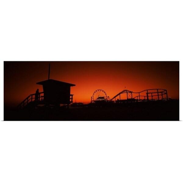 """""""Santa Monica Pier, Santa Monica Beach, Santa Monica, California"""" Poster Print"""