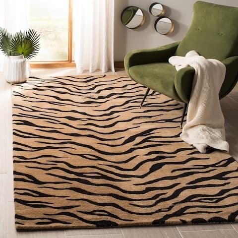 SAFAVIEH Handmade Soho Demetrina Tiger N.Z. Wool Rug
