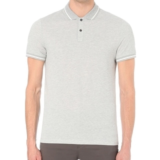 Michael Kors NEW Gray Mens Size 2XL Contrast Short Sleeve Polo Shirt