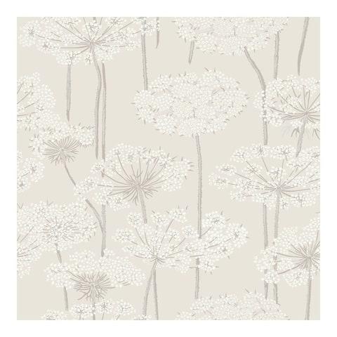 Ingrid Beige Dandelion Meadow Wallpaper - 20.9 x 396 x 0.025