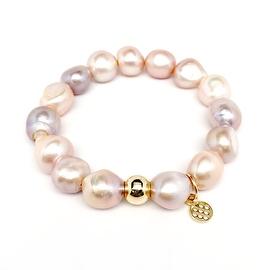"Pink Pearl 'Eternal' 7"" Stretch Bracelet"