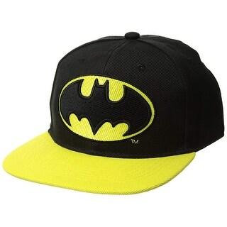 DC Comics Men S Batman Baseball Cap 3D Emblem Embroidered Black Teen Boy 1 Sz