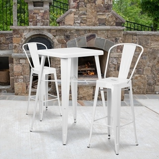 """Link to 4 Pack 30"""" High Metal Indoor-Outdoor Barstool with Back - Kitchen Furniture Similar Items in Dining Room & Bar Furniture"""