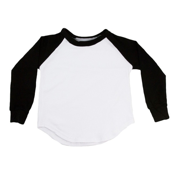 Unisex Baby Black Two Tone Long Sleeve Raglan Baseball T-Shirt