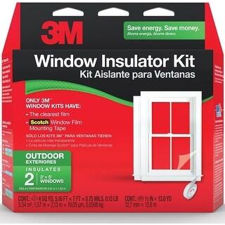 Scotch 2170 W-6 Outdoor Window Insulator Kit, 5.16' x 7', 2/Pack
