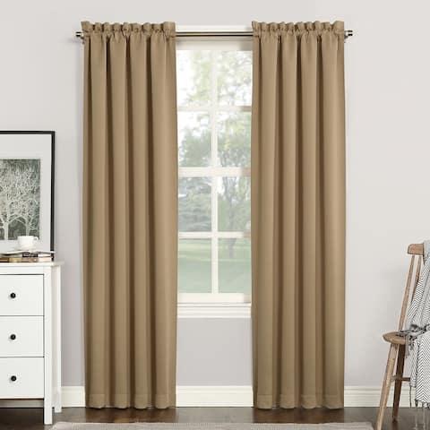 Sun Zero Hayden Energy Saving Blackout Rod Pocket Curtain Panel