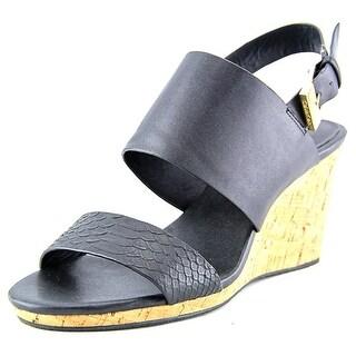 Calvin Klein Bibbi Women Open Toe Synthetic Black Wedge Sandal