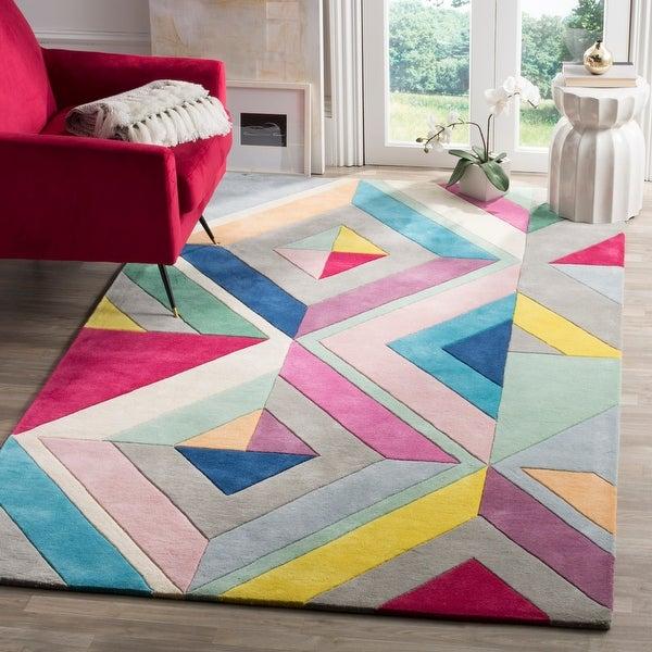 Safavieh Handmade Fifth Avenue Stephany Mid-Century Modern Wool Rug. Opens flyout.