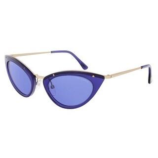 Tom Ford FT0349/S 90V Grace Electric Blue Cateye Sunglasses - 52-20-135