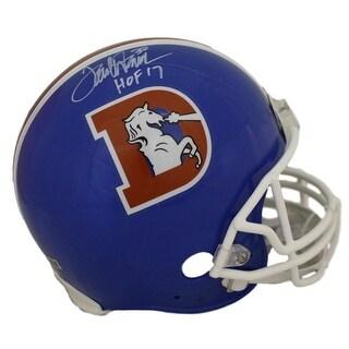Terrell Davis Autographed Denver Broncos DLogo Proline Helmet HOF 17 RAD