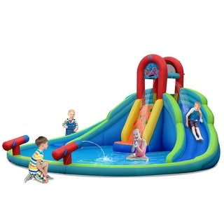 Link to Costway Inflatable Bounce House Kids Water Splash Pool Dual Slides Similar Items in Outdoor Play