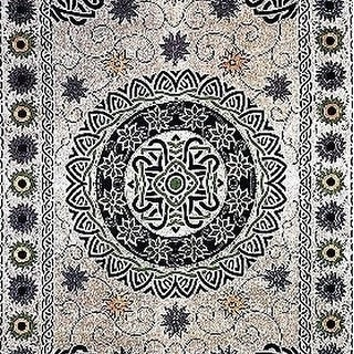 Handmade 100% Cotton Celtic Mandala Sunflower Tapestry Spread Neutral 70x104