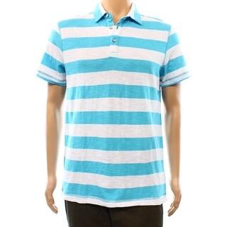 Calvin Klein NEW Blue White Stripe Mens Size Medium M Polo Shirt