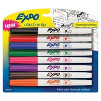 EXPO Dry Erase Markers, Ultra Fine Tip, Assorted Colors, Pack of 8