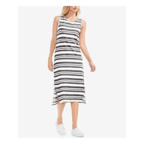 VINCE CAMUTO Ivory Sleeveless Tea Length Shift Dress Size 2XS