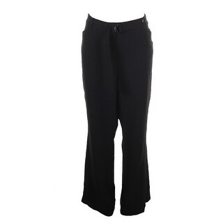 Tahari Black Straight Leg Dress Pants 16