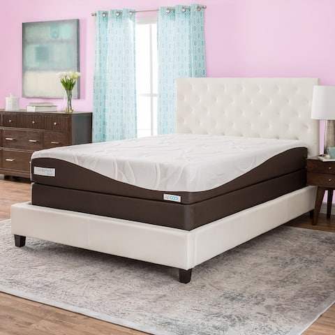 ComforPedic from Beautyrest 10-inch Memory Foam Mattress Set - Brown/White