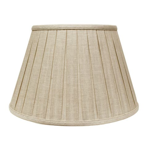 Cloth & Wire Slant Linen Box Pleat Softback Lampshade with Washer Fitter, Oatmeal