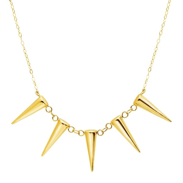 Just Gold Cone Stud Garland Necklace in 14K Gold - Yellow
