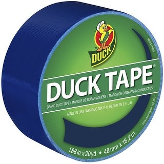 """Duck 1304959 Duct Tape, Blue, 1.88"""" x 20 Yards, Single Roll"""