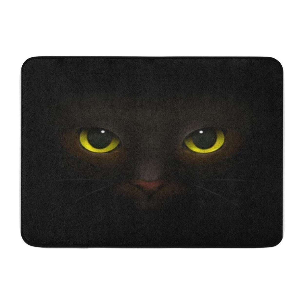 Shop Monsters Realistic Composition Feline Eyes And Nose Scary Doormat Floor Rug Bath Mat 23 6x15 7 Inch Multi On Sale Overstock 31776942