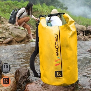 Wacces Heavy Duty Durable Waterproof Dry Bag for Kayaking, Rafting, Boating, Swimming, Hiking 10 Liter